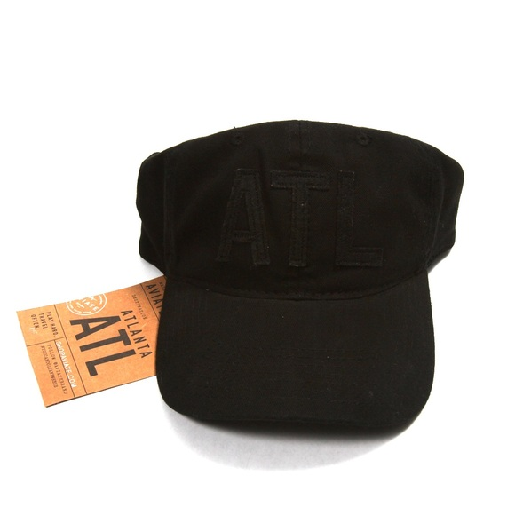 05d1e44de Aviate ATL Black Cap w/ Black Embroidery (Atlanta) NWT